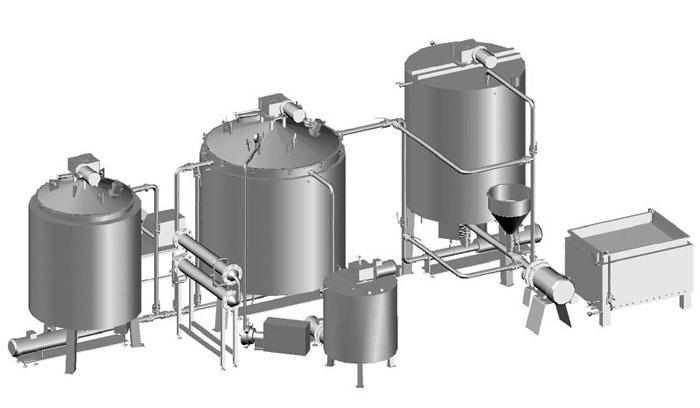 Установка приготовления сгущенного молока